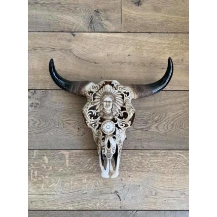 Skull bewerkt indiaan model